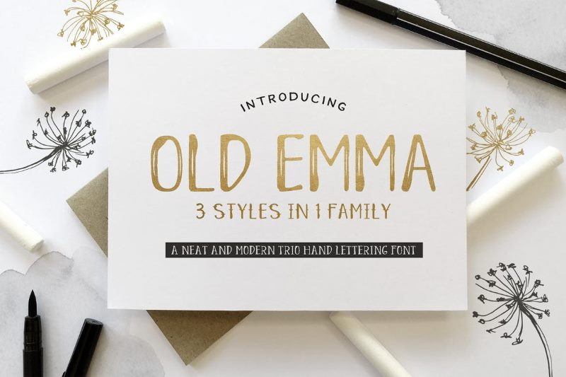 Шрифт Old Emma