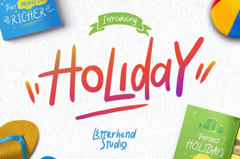 Шрифт Holiday